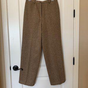 Liz Claiborne Brown 100% wool tweed slacks-lined
